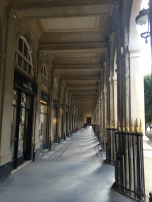 One of the vaulted passages surrounding the park