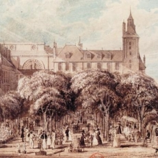 The flower market in 1829. Frederick Nash.