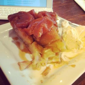 The tarte tatin at le Centenaire