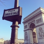 Arc and street sign