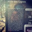 Information panel about the island