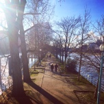 View of the start of the walk from Pont Bir Hakeim