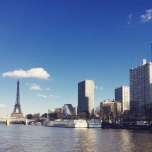 View of the 15th arrondissement and Eiffel Tower from the Island