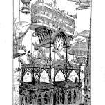 Alfred Robida - Notre Dame station