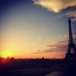 Sunset seen from the Trocadero