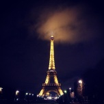 Clouds lit up over the Champ de Mars